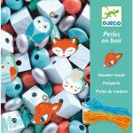 Djeco Fa gyöngyök kis állatokkal - Wooden beads, Small animals