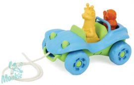 Green Toys Húzható Kisautó állatokkal - kék