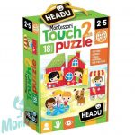 Montessori tapintós puzzle- A park HEADU