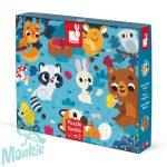 Tapintós puzzle - erdei állatok - 20 darabos  02685 Janod