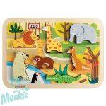 3D puzzle-állatkert 07022 Janod