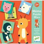 Memóriajáték - Fél állat párosító - Memo Animo-puzzle